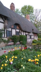 Anne Hathaway's Cottage near Stratford-upon-Avon where Willaim Shakespeare courted his future wife Anne.